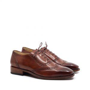 pantofi brogues piele naturala culoare maro