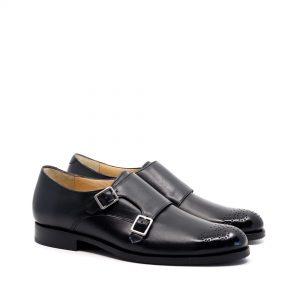 pantofi cu catarame piele naturala culoare neagra