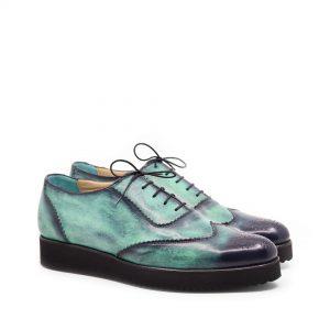 pantofi barbati piele naturala culoare verde