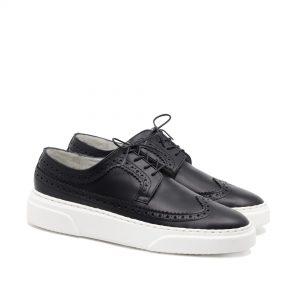 pantofi sport negri cu talpa alba